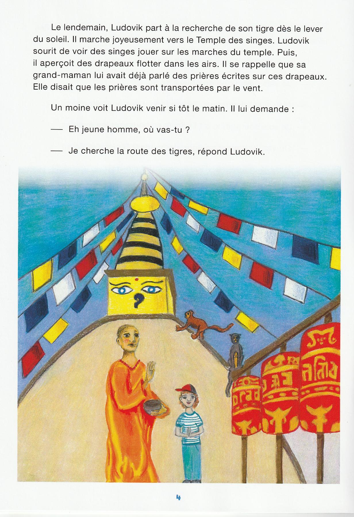 page où le personnage rencontre un moine