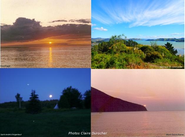 4 photos de paysage de jour et de nuit