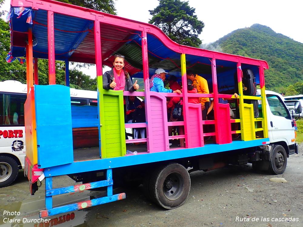 un transport multicolore