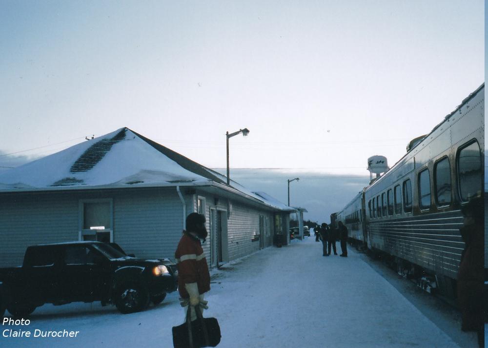 un homme prend le train à la gare