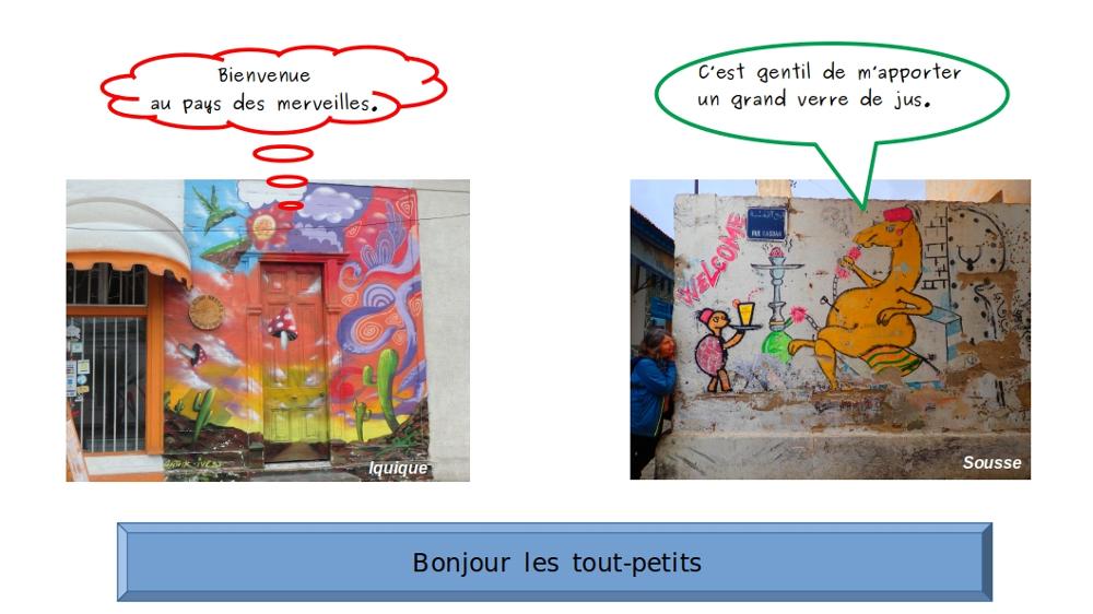deux fresques pour enfants