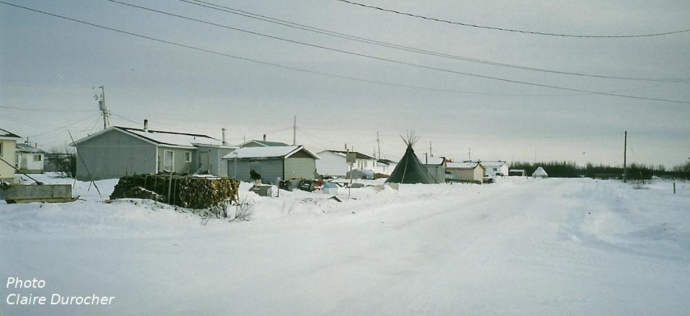 aperû d'une communauté sous la neige